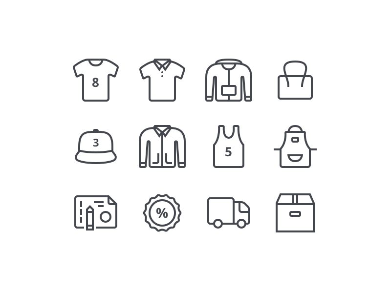Clothes and Footer Icons (Mister Tee)